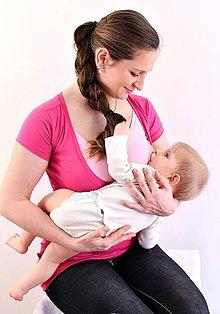 Tehotenské/Na dojčenie - 3v1 tričko pre tehotné, dojčiace, nedojčiace - kr. rukav - V - 76 farieb - 5471358_