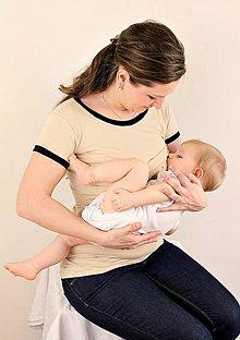 Tehotenské oblečenie - 3v1 tričko pre tehotné, dojčiace, nedojčiace - kr. rukav - 76 farieb - 5471425_