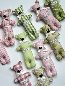 Darčeky pre svadobčanov - Medvede s menom - 5470811_