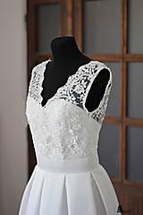 Šaty - Svadobné šaty v retro štýle s korálkovou krajkou - 5470737_