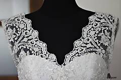 Šaty - Svadobné šaty v retro štýle s korálkovou krajkou - 5470738_
