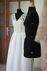 Šaty - Svadobné šaty v retro štýle s korálkovou krajkou - 5470739_