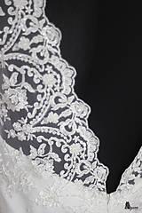 Šaty - Svadobné šaty v retro štýle s korálkovou krajkou - 5470741_