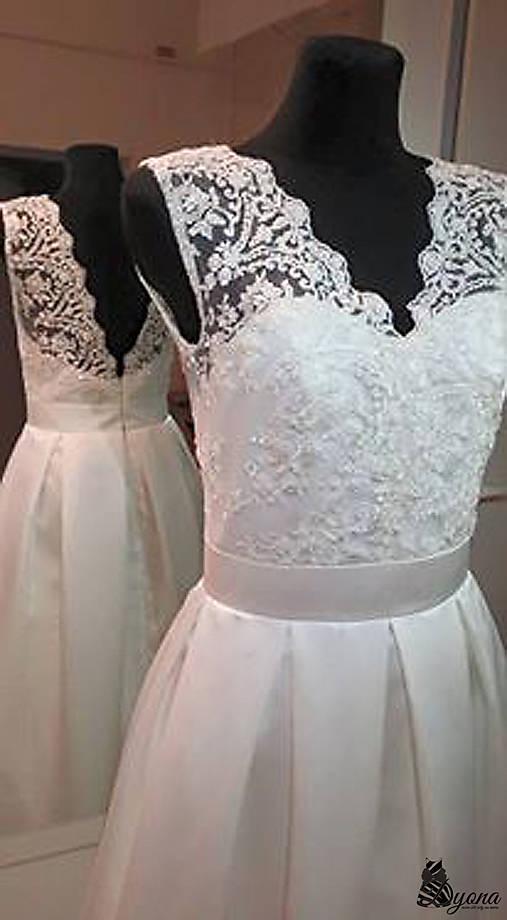 3a180ac26812 Svadobné šaty v retro štýle s korálkovou krajkou   Dyona - SAShE.sk ...