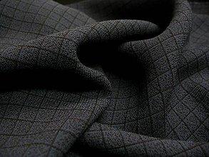 Textil - Tmavomodrá kockovaná šatovka - 5471169_