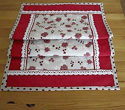 Úžitkový textil - romantika v bordovom odtieni - 5472093_