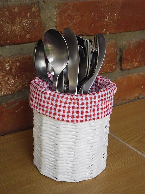 e2b06c0c4 Košík na príbory červeno-biely / Dovinka - SAShE.sk - Handmade Košíky
