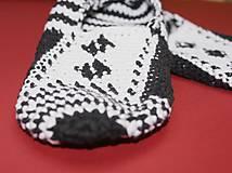Obuv - Čiernobiele balerínky - AKCIA 50 - 5473954_