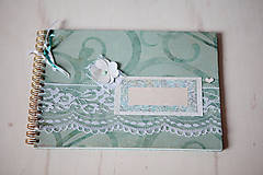 Papiernictvo - Kniha hostí - mint - 5476185_