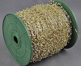 Galantéria - Perličková girlanda zlatá 3 mm - 5476156_