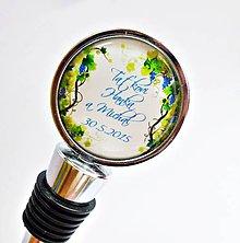 Darčeky pre svadobčanov - zátka na láhev Good wine... - text na přání - 5475897_
