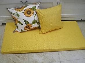 Úžitkový textil - Sedák a vankúšiky v žltom - na objednávku - 5473473_
