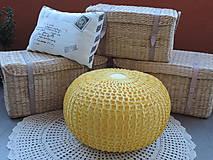 Úžitkový textil - Žltý puf - 5475554_