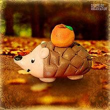 Hračky - Ježko s jabĺčkom NA ZÁKAZKU - 5476307_