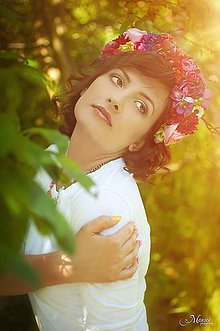 Ozdoby do vlasov - čelenka by michelle flowers - 5476987_