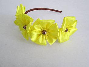 Ozdoby do vlasov - Čelenka Žltý Kvet - 5478169_