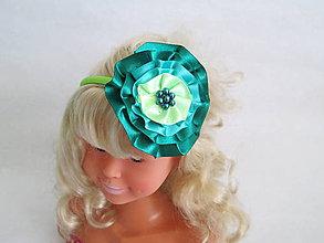 Ozdoby do vlasov - Čelenka Zelená Žabka - 5478226_