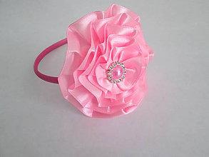 Ozdoby do vlasov - Čelenka Ružová Princezná - 5478537_