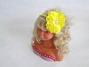 Ozdoby do vlasov - Čelenka Žltá - 5478542_