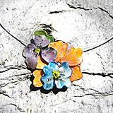 Náhrdelníky - mini kvieťa farebné :-) - 5478532_
