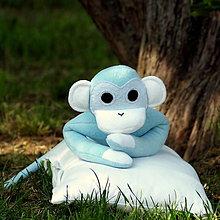 Hračky - belasá opička - 5479023_