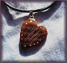 Náhrdelníky - 435. Drevený náhrdelník JASEŇ - 5479407_