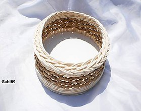 Košíky - Ovál z vodného hyacintu - 5478222_