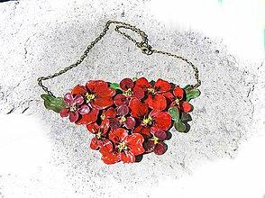 Náhrdelníky - šípkové ruže ,náhrdelník - 5480965_