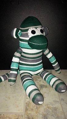 Hračky - Opička zelená - 5480707_