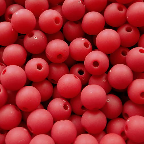 Plast MATT 8mm-20ks (červená)