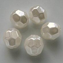 Korálky - GLANCE plast fazet 10mm-1ks - 5481606_