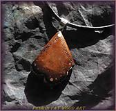 Náhrdelníky - 439. Drevený náhrdelník - Dubový - 5479723_
