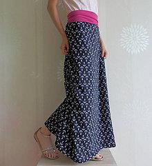 Tehotenské oblečenie - *Dlouhá sukně s kotvičkami - značkový úplet* - 5483326_