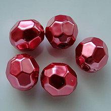 Korálky - GLANCE plast fazet 10mm-1ks (červená-1ks) - 5481610_