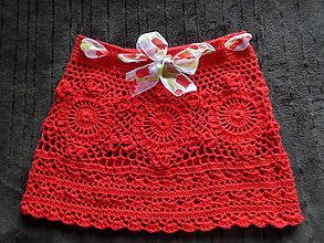 Sukne - suknička červena :) - 5481772_