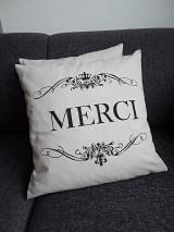 Úžitkový textil - Obliečka MERCI. - 5483368_
