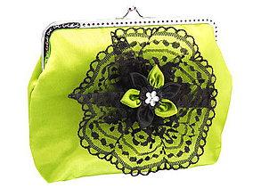 Kabelky - Dámská spoločenská kabelka žlto zelená 1190A - 5488194_