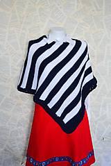 Iné oblečenie - Zľava 50%_Pončo... WHiTe & BLue... - 5486679_