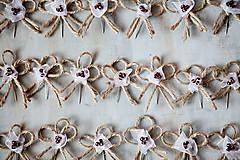 Pierka - Svadobné pierka - špagát - kvet - 5487903_