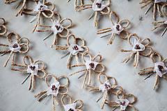 Pierka - Svadobné pierka - špagát - kvet - 5487904_