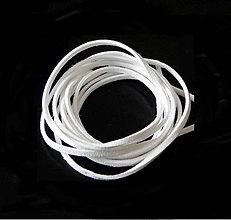 Galantéria - Návleková šnúra, biela - 3mm /90cm - 5484995_