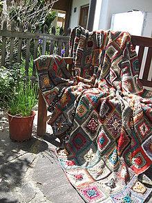 """Úžitkový textil - Chalupárska deka """"Lady Klimt"""" - 5487480_"""