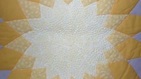 Úžitkový textil - Patchworková deka DAHLIA - 5488327_
