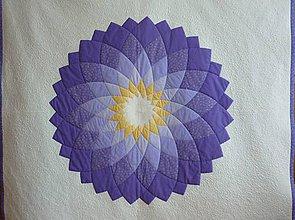 Úžitkový textil - Patchworková deka DAHLIA - 5488325_