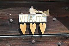 Tabuľky - Dekorácia na dvere so srdiečkami - 5487695_