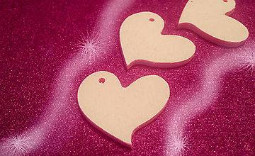 Polotovary - drevený výsek - srdce asym.2,5x2,5 cm - 5485544_