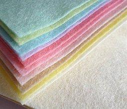 Textil - Mix 10tich pastelových FILC štvročekov 15x15cm - 5487482_