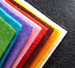 Textil - Mix 10tich základných farieb FILC štvročekov 15x15cm - 5487486_