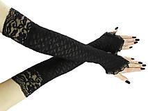 Dámské bezprstové čierne rukavice s čipkou 06301