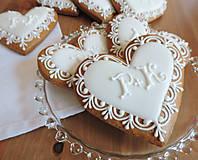 Darčeky pre svadobčanov - Medovníkové Svadobné menovky Šimon - 5491492_